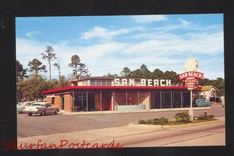 MISSISSIPPI CITY MISSISSIPPI SAN BEACH STEAK RESTAURANT ADVERTISING POSTCARD