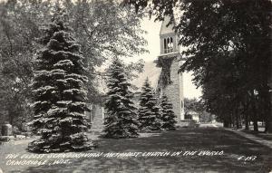 Cambridge Wisconsin~Scandinavian Methodist Church~Cemetery Tombstones~1943 RPPC