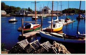 Maine Picturesque Harbor Along The Maine Coast
