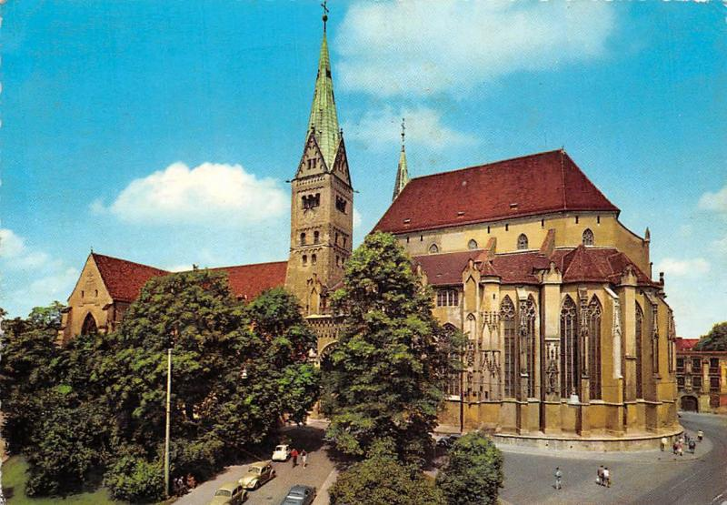 Augsburg Dom Cathedral Vintage Cars Auto Voitures