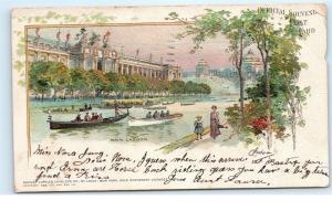 St. Louis World's Fair 1904 Main Lagoon Missouri Official Souvenir Postcard D01