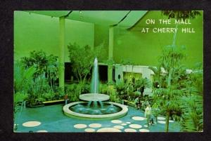 NJ Fountain Shopping Mall Center Cherry Hill NEW JERSEY Postcard PC