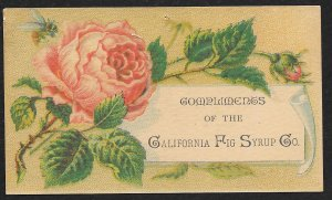 VICTORIAN TRADE CARD California Fig Syrup Rose & Bee
