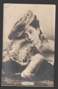111822 Anna PAVLOVA Russian BALLET Star in FUR vintage PHOTO