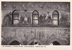 Italy Monreale Interno Duomo Caino ed Abele Mosaici Real Photo