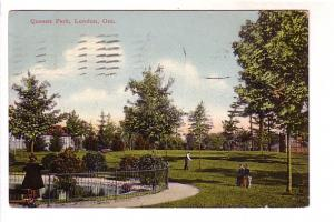 People in Queens Park, London Ontario, Red Star News Company