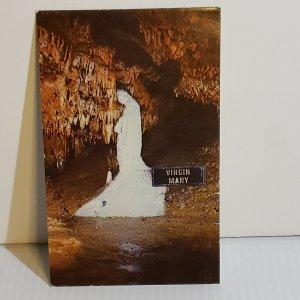 Vintage Postcard Virginia Mary Stalagmite Madonna Stanton Missouri 1959
