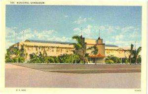 Municipal Gymnasium, San Diego, California, CA,  Linen