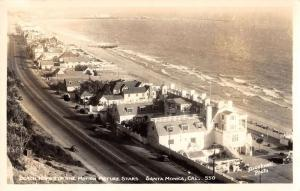 Santa Monica California aerial view movie stars beach homes real photo pc Z22717