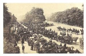 London, Hyde Park c. 1900 animated carriages horses, Nostalgia Reprint