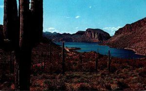 Arizona Grand Canyon Canyon Lake As Seen From Apache Trail