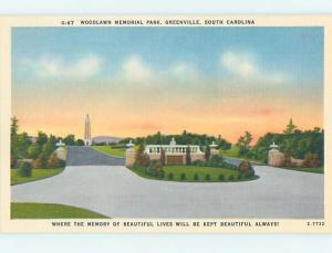 Unused Linen PARK SCENE Greenville South Carolina SC hk6305
