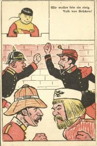 china, BOXER REBELLION, Caricature, Fighting Allies, Smiling Chinese Man (1899)