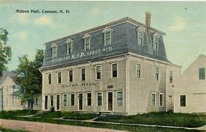 NH, Canaan, New Hampshire, Milton Hall, E.M. Allen
