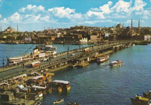 Galata Bridge , ISTANBUL , Turkey , 50-70s