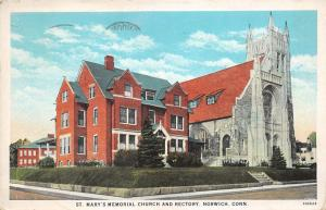 Norwich Connecticut~St Mary's Memorial Church & Rectory~Gothic Style Bldg~1929