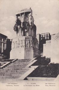 ALGER, Africa, 1900-1910's; Les Sculpteurs Landowski, Bigonet, Le Monument Au...