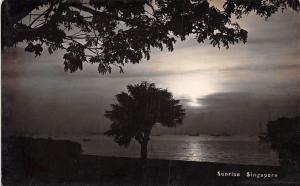 Singapore Sunrise Merry Christmas RPPC