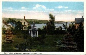 Maine Belfast Glimpse Of Bradbury Grounds