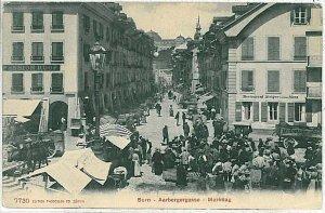 Ansichtskarten Schweiz VINTAGE POSTCARD: SWITZERLAND -  BERN - MARKET