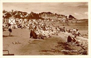 RPPC West Bay Dunoon Argyll Scotland Beach Scene Unused Real Photo Postcard