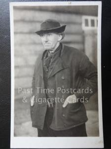 Old RPPC - Netherlands: Zuid-Beveland (Zeeland) Image of a Local Man