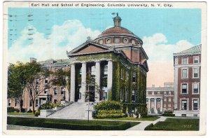 N.Y. City, Earl Hall and School of Engineering, Columbia University