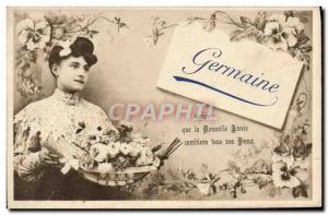 Old Postcard Germaine Surname