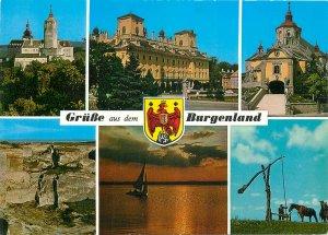 Austria burgenland multi view church boat horse cliff Postcard