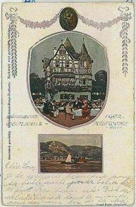 33222 - Ansichtskarten VINTAGE POSTCARD: GERMANY - DUSSELDORF - WEINHAUS 1902