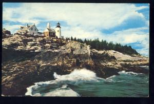Pemaquid Beach, Maine/ME Postcard, Pemaquid Point Light/Lighthouse #2