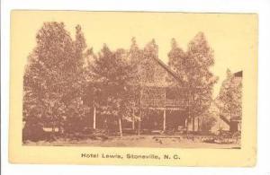 Hotel Lewis, Stoneville, North Carolina, 30-50s