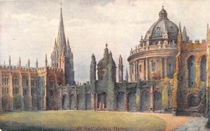 Oxford, All Souls' College, Allen Shuffrey after water-colour drawing