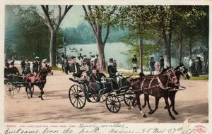 NEW YORK CITY, PU-1907 ; The Lake, Central Park