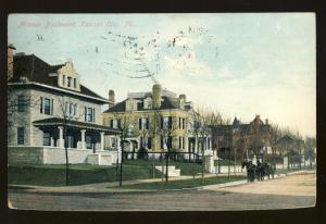 Kansas City, Missouri/MO  Postcard, Armour Boulevard, 1908!