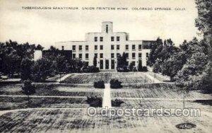 Tuberculosis Sanatorium, Colorado Springs, CO, USA Medical Hospital Unused