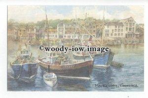 DS0073 - Cornwall - Mevagissey Harbour, Artist - David Skipp - postcard