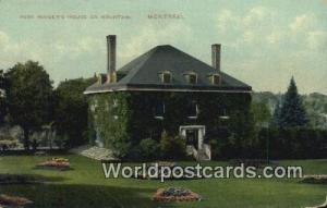 Montreal Canada, du Canada Park Ranger's House on Mountain  Park Ranger's Hou...