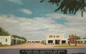 ALBUQUERQUE , New Mexico , 1930-40s ; El Camino Lodge ; RT 66 / Route 66