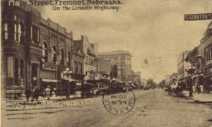 Main Street, on Lincoln Highway Fremont NE Postal Used Unknown