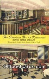 American Bar & Restaurant, New York City, NYC Postcard Post Card USA Old Vint...