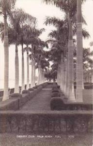 Florida Palm Beach Embassy Club Real Photo RPPC