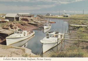 SEAFOAM , Nova Scotia , Canada , 50-70s ; Lobster Boats at Rest