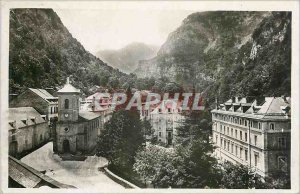 Old Postcard the Hot Springs - General view Church and Etablissement Thermal