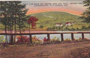 New York Catskill Mountains Field Club House And Theatre From Lake Trail Onte...