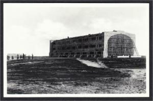 Airship Hangar Naval Air Station Lakehurst NJ Real Photo Repro Postcard #2