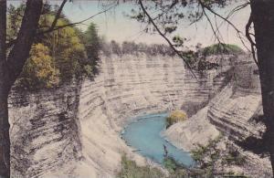 Canyon Below Glen Iris Letchworth State Park P O Castile New York Handcolored...