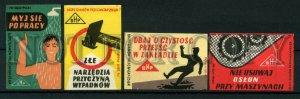 500820 POLAND BHP ADVERTISING Vintage match labels