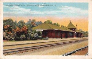 Hammond Louisiana Illinois Central Train Station Vintage Postcard AA34658