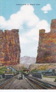 Utah Castle Rock With Trains